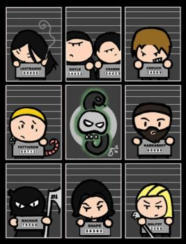 Death Eaters' Mugshots by cippow25