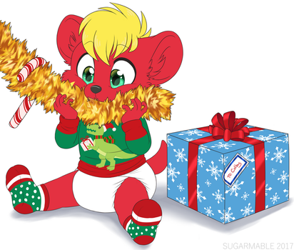Tinsel eater (art trade) by tailslover42