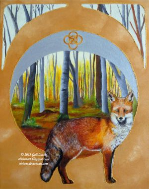 Foxes of the Seasons - Autumn Red Fox by Olvium