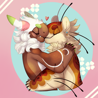 Cherry Blossom Love (YCH) by GreaserDemon