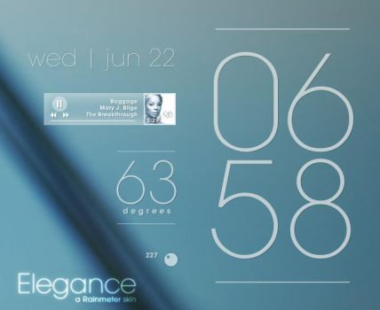 Rainmeter - Elegance 1.0 by lilshizzy