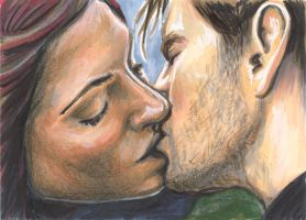 Cyclops and Jean Grey Kiss by AshleighPopplewell