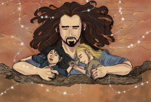 Thorin and Nephews - Sweet Dreams by Vixenkiba
