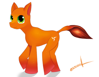 Orange Pony by OupazasMedia