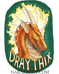 Draythix ConBadge by NakaseArt