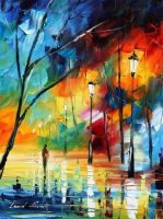 Frozen feeling by Leonid Afremov by Leonidafremov