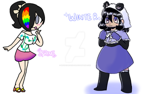 Colab with 99SamPanda99 Season outfits!!!! by KawaiiUrsaChan