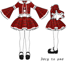 MMD- Plaid Set -DL by MMDFakewings18