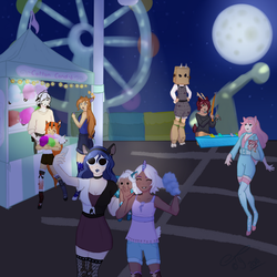 Nighttime Carnival - Dainty Monthly Prompt by TheYUO