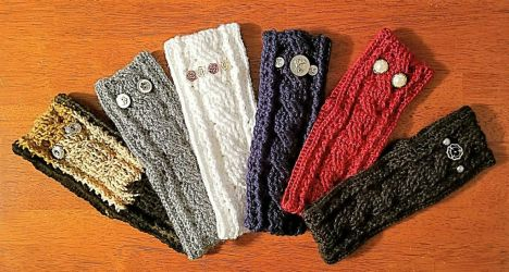 Hand Crocheted Earwarmers by BabCreativeDesigns