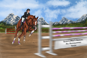 SlightlyMad's Annual All-Showjumping  Entry Evelyn by xSapience