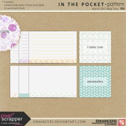 PsMar17 In the Pocket - Patterned Journal Cards by enhancers
