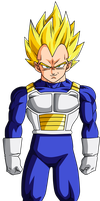 Colored 009 - Vegeta 003 v2 by VICDBZ