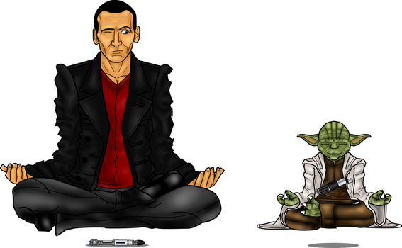 9th Doctor And Yoda by CosmicThunder