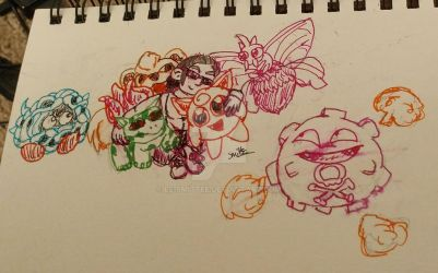 My Pokemon Team WIP by Le-Smittee