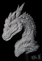 Steinir Dragon Sculpture (Walkthrough Blog) by Dreamspirit