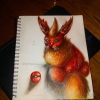 Realistic flareon by xprotector10
