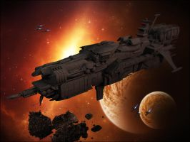 Dugo Battlecruiser by Hellwolve