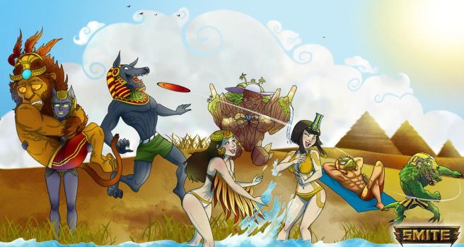 Egyptian Beach Party by BehindtheVeil