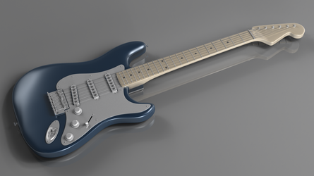 3D Electric Guitar by Antscape