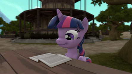 Twilight's reading session by Neoar2000