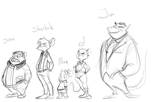 The BBC gang by TopHatTurtle