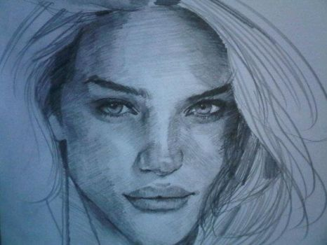 Rosie Huntington sketch by buttdriller