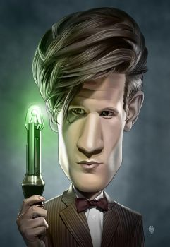 11th Doctor Caricature Final by Mattspaintings