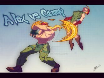 Commission: Alex vs. Cammy by KHAN-04