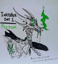 Inktober Day One - POISON by Robot-Blood