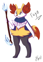 Tayo the Braixen by Deathxael
