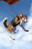 Skydiving dog by SophiePf