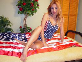 Stacy Burke - Patriotic Stacy by slamm345