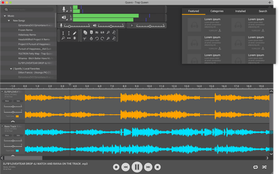 Audacity Flat Interface Concept by HecTech