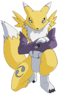 Renamon waiting by goldrenard