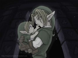 Zelda - Link meets Link by mysketchbook