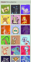 Favorite Pokemon By Type: Hope Edition by AceTrainerHope