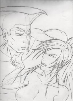 Sketch Daily #38 - Guile and Taki by MechaKraken