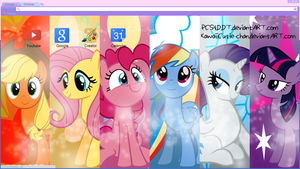Mane 6 Google Chrome Theme by bubblehun
