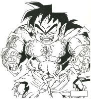 Gohan into Oozaru DVD Cover Art by Stonegate