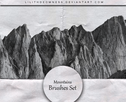 Mountains Brushes #20 by LilithDemoness