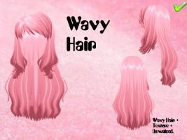 MMD - Wavy Hair and Textures DL by iHanontsukino
