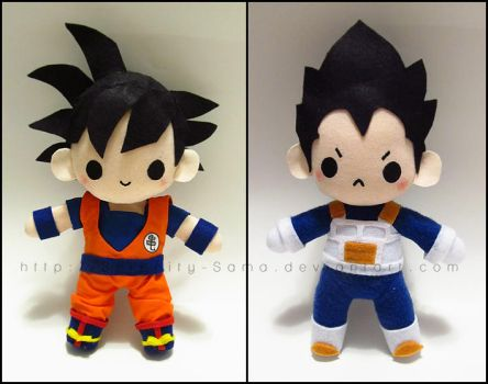 Chibi Goku and Vegeta by Serenity-Sama