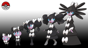 574 - 576 Gothita Line by InProgressPokemon