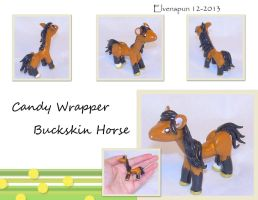Candy Wrapper Buckskin Horse by MalaCembra