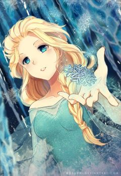 Queen Elsa by Rosuuri