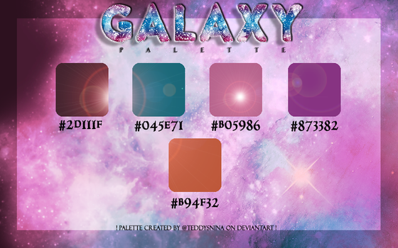 Galaxy PALETTE No. 2 by @teddysnina by teddysnina