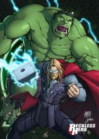 Avengers - Thor and Hulk by RecklessHero