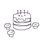 Birthday Cake Father With Cupcake Children by DelightfulDiamond7