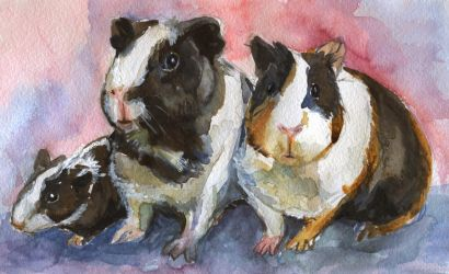 Piggy family by Maddepos